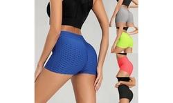 Women Sports Shorts Sexy Hips Yoga Pants Push Up Quick-drying Running Shorts