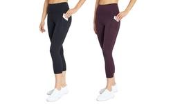 "Women's Balance Collection High-Rise Eclipse Pocket 22"" Capri"