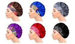 Women's Large Luxurious Silky Satin Sleeping Bonnet Headband Scarf