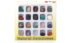 20pcs Healing Crystal Mini Energy Meteorite Gemstone Collection with Box