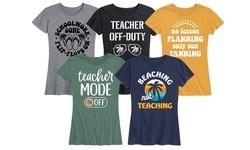 Women's Teacher Off Duty Summer Break Tees Printed in USA