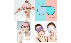 2-in-1 Double-Sided Sleep Eye Mask Warm&Cool Travel Breathable Blindfold Mask