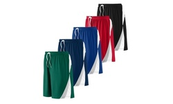 5 Pack Active Club Men's Active Athletic Performance Shorts Without Pockets