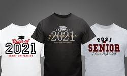 One or Two Personalized Graduation T-Shirts from GiftsForYouNow.com (Up to 52%Off)
