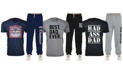 Men's Father's Day Best Dad Ever T-Shirts and Lounge Sweatpants Sets