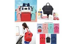Baby Bag Large Capacity Diaper Bag Multi-Function Waterproof Backpack Nappy