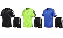 Braveman Men's Active Workout 2-Piece T-Shirt and Athletic Shorts Set