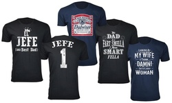 Men's Father's Day Blessed Dad Ever T-Shirts (Extended Sizes Available)