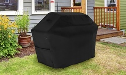 Tuyeho Grill Cover 600D Heavy Duty Waterproof Gas BBQ Cover Black