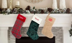 Personalized Embroidered Christmas Stockings from Qualtry (Up to 74% Off)