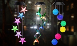 Solar Lights LED Decorative Lights Solar Powered Mobile Hanging Chimes Outdoor