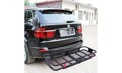 """60"""" x 24"""" x 6"""" Hitch Mount Angled Shank Cargo Carrier Luggage Basket"""