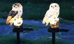 Solar Lights Owl Solar LED Lights with Stake Decorative Garden Solar Lights