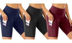 High Waist Yoga Shorts Women Running Tummy Control Compression Shorts
