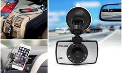 Aduro Ultimate Summer Driving Bundle Dashcam & 5 Port Car Charger & Car Mount