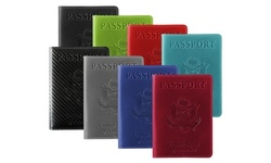 RFID Multi-function Passport Holder with CDC Vaccination Card Slot