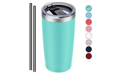 20 OZ Stainless Steel Tumbler Double Wall Insulated Tumbler Coffee Mug With Lid