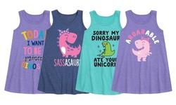 Toddler and Youth Girl's Sassasaurus Dinosaur Dresses