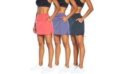 Marika Women's Woven Slimming & Tummy Control Pocket Skorts