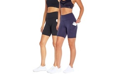 Women's Marika High-Rise Tummy Control Pocket Bermuda Shorts - Multiple Lengths