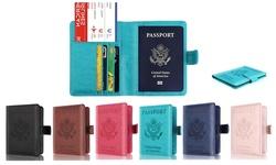 RFID Blocking Leather Passport Holder Anti-Theft Anti-Scanning Travel Wallet