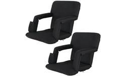 2-Pack Folding Stadium Seat, Portable reclining Bleacher Chair