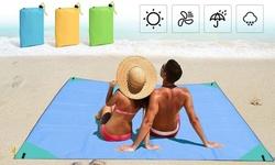 Portable Beach Blanket Sandproof Oversized Lightweight Beach Mat Picnic Blankets