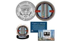 9-11 World Trade Center *TOWERS* 20th Anniversary JFK Half Dollar Coin