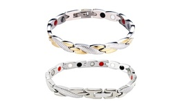 Stainless Steel Therapy Energy Magnetic Bracelet Pain Relief Health Care Jewelry