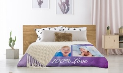 Personalized Custom Photo Blankets in Fleece or Plush Fleece 82% Off). Nine Options Available.