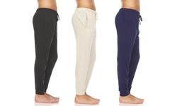 3 Pack Men's Cotton Lightweight Breathable Lounge Jogger Pants (S-3XL)