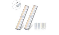 HAKOL 2-Pack 20 LED Wireless USB Rechargeable Indoor Motion Sensor Lights