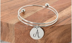 Stainless Steel Double Layer Initial Bracelet By Pink Box - 3 Options Available