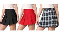 Made By Johnny Pleated Active Skort with Shorts