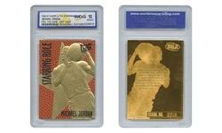 1996 MICHAEL JORDAN Fleer Ultra FEEL THE GAME NBA Texture GOLD Card GEM MINT 10