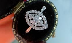 Leo Rosi Cleaar Oval Cubic Zirconia Wedding Rings in 18K White Gold