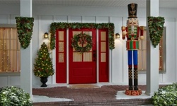 8 ft Animated Giant Nutcracker at Home Depot