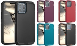 For iPhone 13 Pro Max Heavy Duty Rugged Shockproof Case Camera Lens Protection