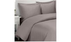 Superior Solid 500-Thread Count Cotton 3-Piece Duvet Cover Set