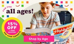15% off Shop by Age + Free S&H!
