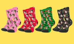 One or Two Pairs of Custom Photo Socks from Justyling (Up to 75% Off)