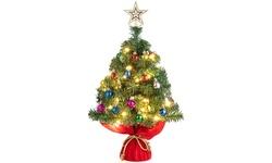 Tabletop Christmas Tree Artificial Christmas Tree with LED Light Christmas Decor