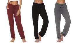 LESIES Womens Yoga Sweatpants Wide Leg Comfy Drawstring Workout Joggers Pants