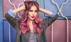 Color, Haircut, Shampoo, Blow-Dry, Balayage, or Keratin Treatment at Blessed Hands Salon (Up to 50% Off)