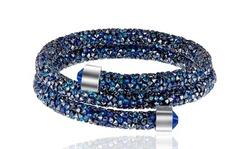 Crystal Energy Double Wrap Bracelets Made with Swarovski Elements