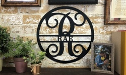 """One or Two 11."""" or 14.5"""" Circle Vines with Monogrammed Initial and Family Name (Up to 68% Off)"""