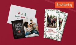 """Holiday Cards 5""""x7"""" or 4""""x8"""" with Custom Envelopes and Addressing from Shutterfly (Up to 53% Off). Two Options Available."""