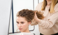 Haircut, Deep Conditioning, and Style with Optional Single-Process Color at Styles n' Smiles (Up to 59% Off)